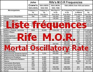 liste fréquence MOR Pt